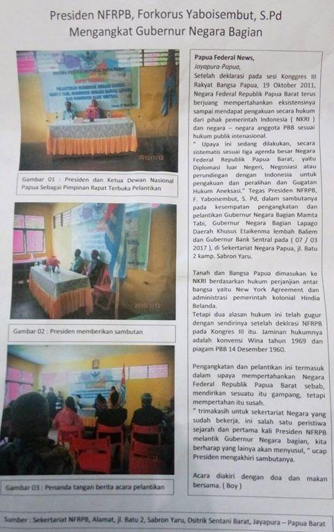 Presiden Papua Melantik Gubernur Negara Bagian dan Gubernur Bank Sentral