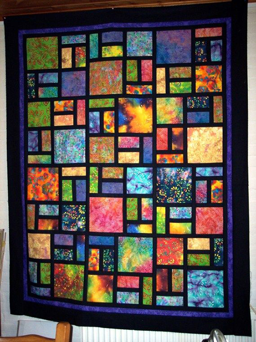 Quilting Land: Batik Stained Glass Quilt