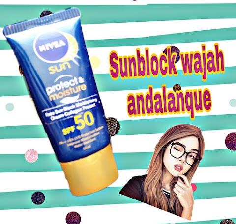 [Review] NIVEA Sun Face Protect Moisture Cream ( Sunblock Ampuh Melembabkan Wajah!)