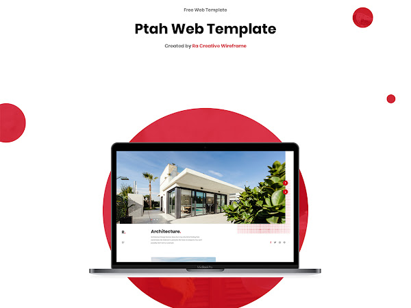 Ptah Architecture Web Template Free [XD, Sketch]
