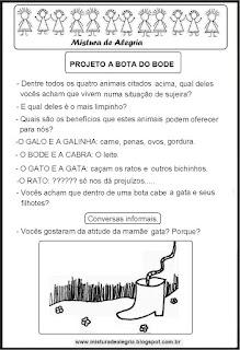 Projeto livro a bota do bode