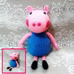 Cerdita Peppa Pig & George tejido a crochet - Llavero souvenir ... | 260x260