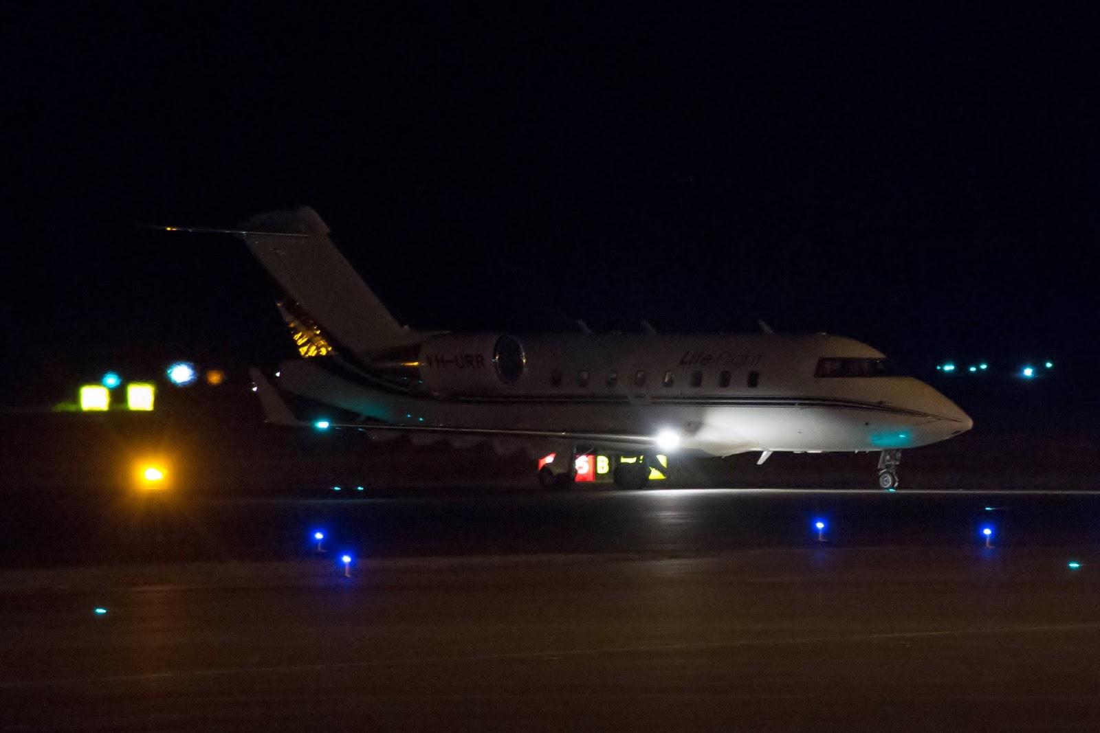 ... LifeFlight (Aeromed) Bombardier Challenger 604 Bizjet VH URR