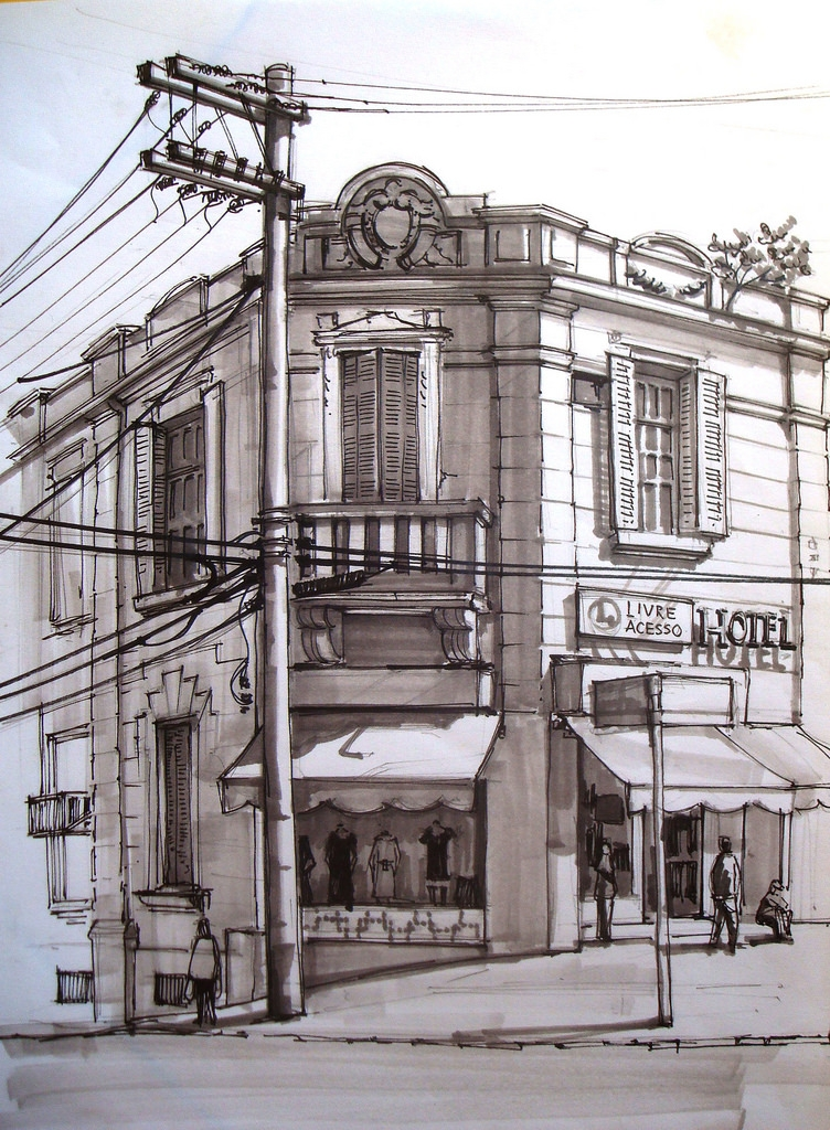 03-Adriano-Mello-Architectural-Urban-Sketches-of-the-City-www-designstack-co