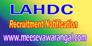 LAHDC (Ladakh Autonomous Hill Development Council) Recruitment Notification
