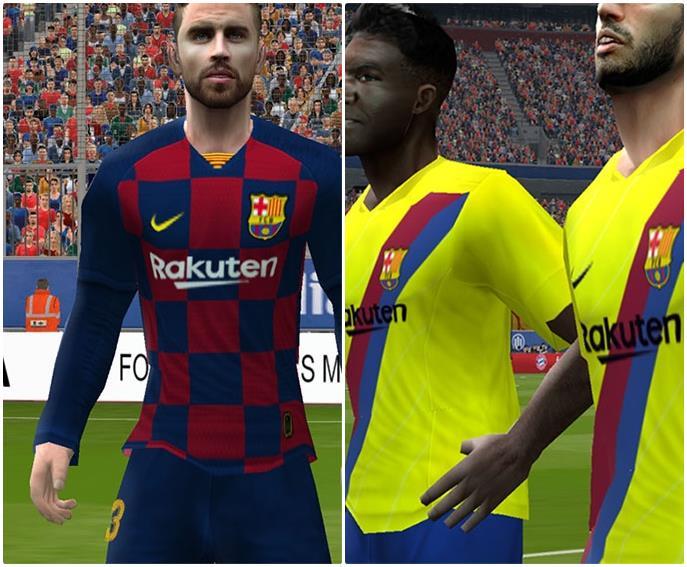 PES 6 FC Barcelona Uni Home and Away Kits Full GDB Next