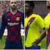 PES 6 FC Barcelona Uni Home and Away Kits Full GDB Next Season 2019-2020 طقم برشلونة بيس 6