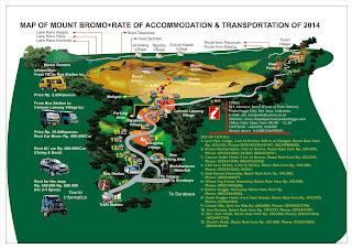 Bromo Map and Transportation List