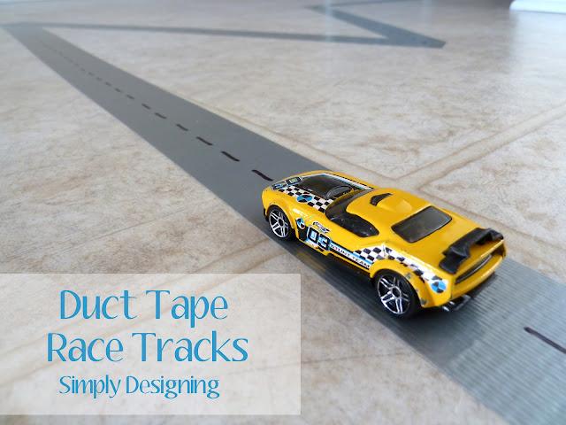 tacks01c DIY Duct Tape Race Tracks {Boredom Buster} 26