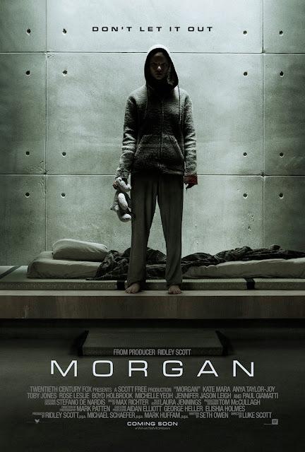 Póster y nuevo tráiler de 'Morgan', producida por Ridley Scott