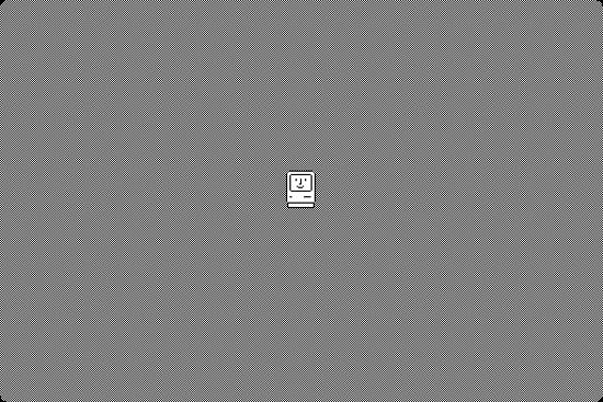 Macintosh System 1 boot