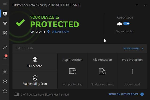 تحميل تثبيت تفعيل bitdefender total security 2018 مفتاح قانوني من الشركة