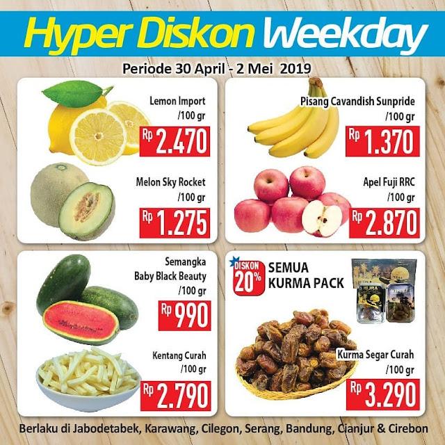 #Hypermart - #Promo #Katalog Hyper Diskon Weekday Periode 30 April - 02 Mei 2019