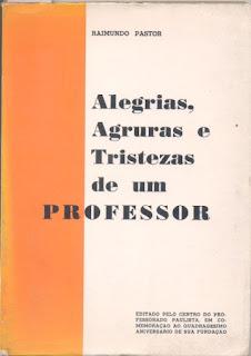 """Capa do livro """"Alegrias, agruras e tristezas de um professor"""""""
