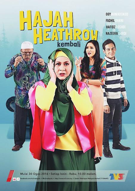 poster drama hajah heathrow kembali