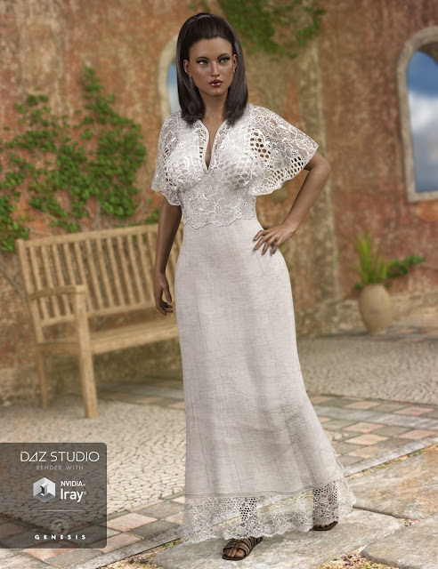 Summer Maxi Dress for Genesis 3 Female