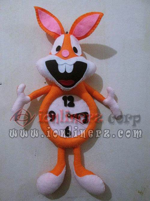 Jam Dinding Flanel Karakter Kartun Boneka Bugs Bunny