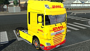 DAF Euro 6 DHL skin mod