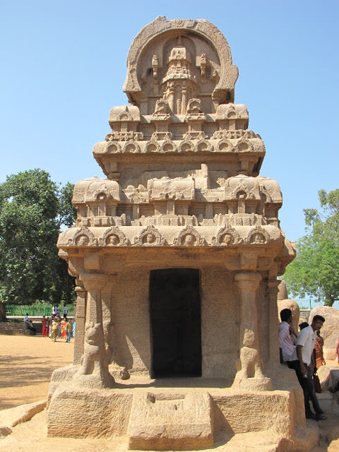 Mahabalipuram Monolithic Stone Chariots - Nakula-Sahadeva Ratha