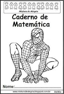 Capa caderno Matemática Homem Aranha