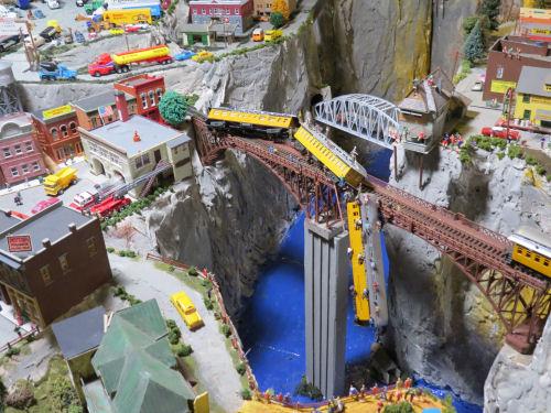 Northlandz model railroad wreck