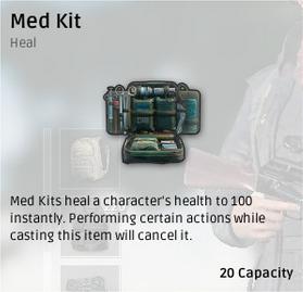 Комплект медикаментов (Med Kit) в Playerunknown's Battlegrounds