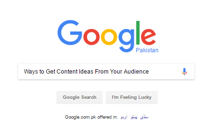 Get Content Ideas From Your Audience
