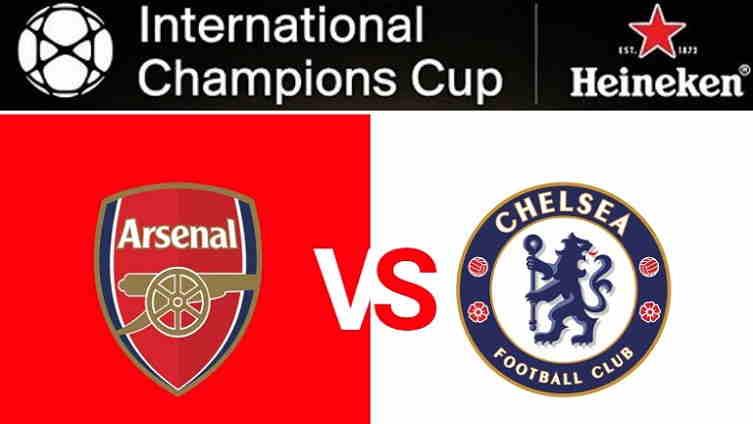 Hasil dan Cuplikan Gol Arsenal vs Chelsea Skor Akhir 1-1 (6-5 Pen) [ICC 2018]