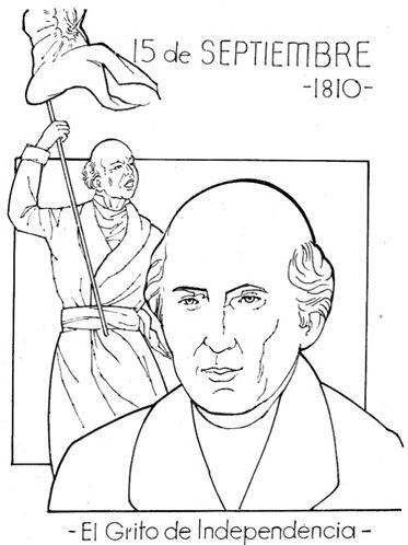 15-de-septiembre-1810-El-grito-de-Independencia-para-colorear