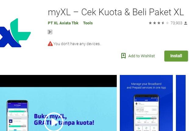 Cek Kuota XL Memakai Aplikasi MyXL