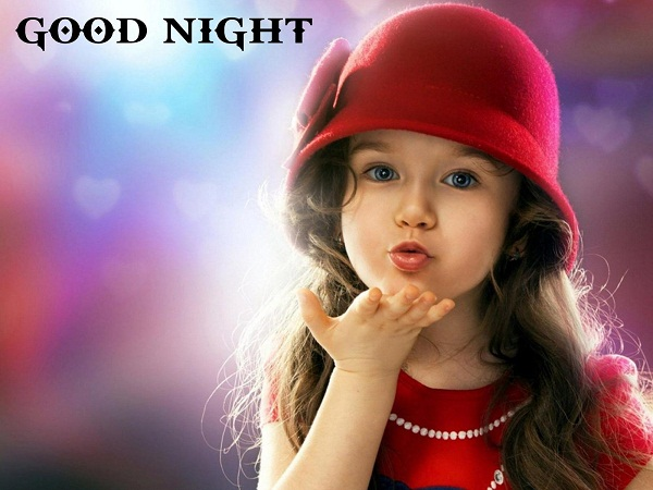 Cute Baby Girl Good Night Wishes Image