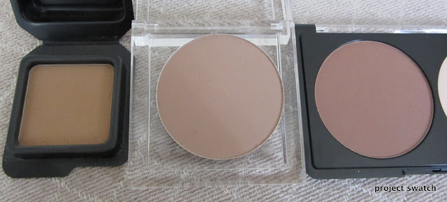 Contour and Sculpting Powder Comparison, Swatches