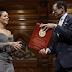 Rihanna  receives her Humanitarian of the Year award from Harvard University (Photos)