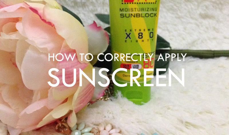 how to apply sunscreen lotion