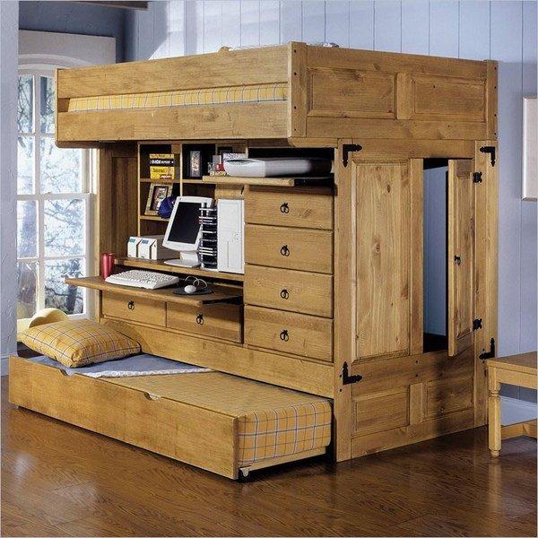 [Nội thất xếp gọn] Bộ giường ngủ đa năng + góc làm việc nhỏ