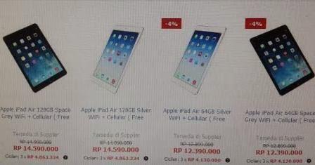 Harga iPad Air 2014