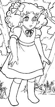 Dibujo de Candy en el bosque para colorear o pintar e imprimir