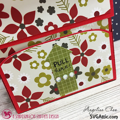 SVG Attic: Ho Ho Holiday Santa Candy with Angeline #svgattic #scrappyscrappy #jgwhohoholiday #christmas #holiday #candydispenser #santa #giftbox