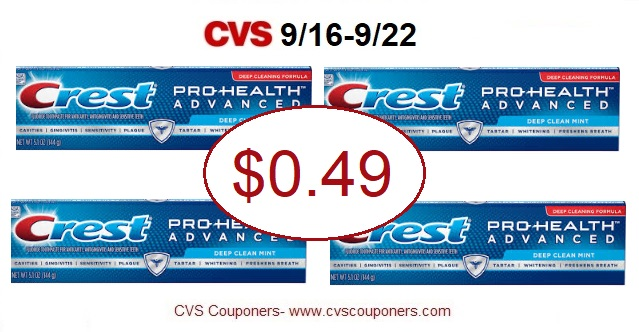 http://www.cvscouponers.com/2018/09/hot-pay-049-for-crest-prohealth.html