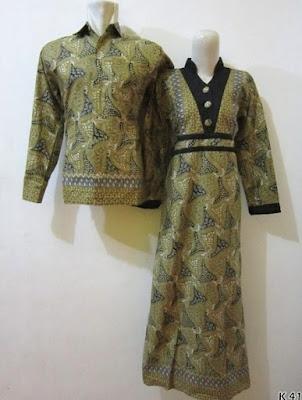 baju couple batik lengan panjang muslim wanita