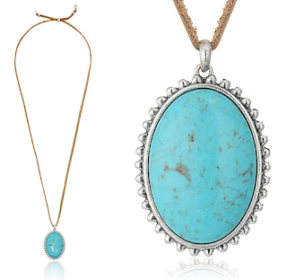 Lucky Brand Leather with Turquoise Pendant Necklace $13 (reg $35)