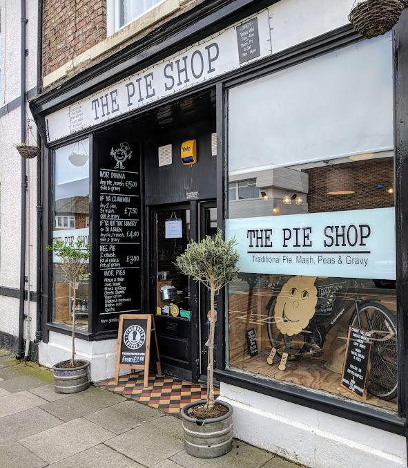 Pie Tea at The Pie & Bottle Shop, North Shields.  A real treat for any pie lover.