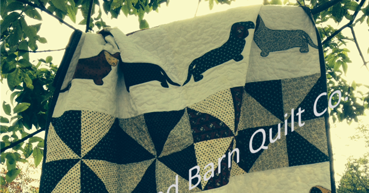 Red Barn Quilt Company Dachshund Quilt Pattern Coming