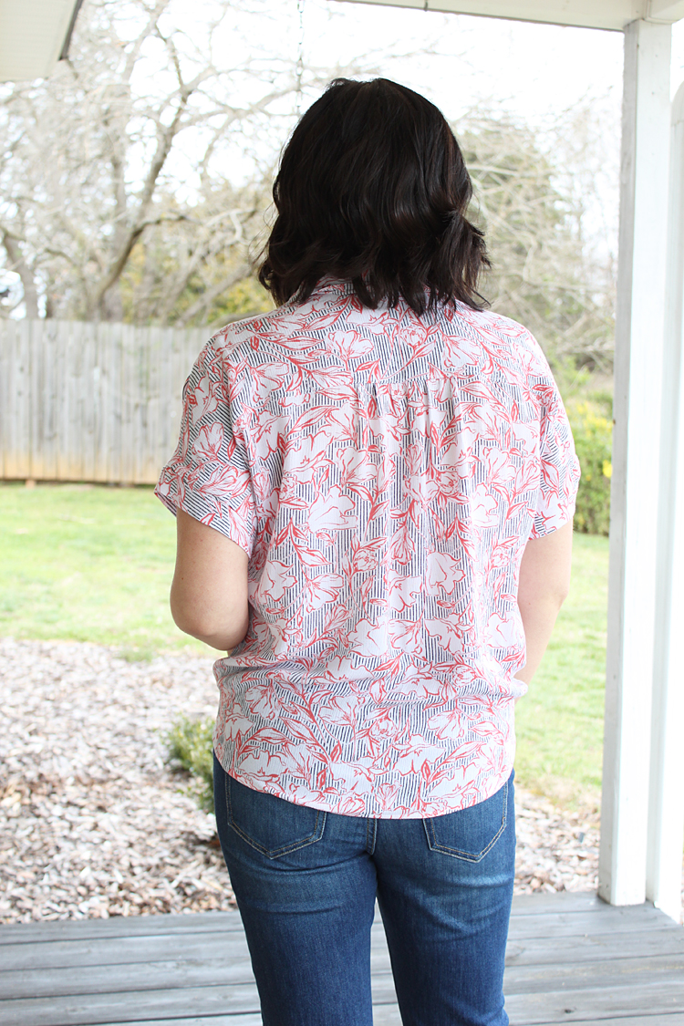 Gathered Shoulder Willamette Shirt // Sewing For Women