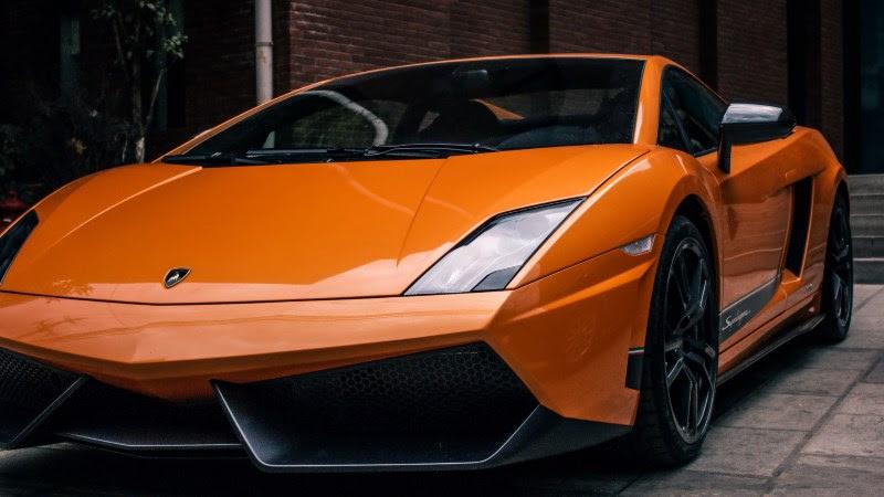 Sports Car: Orange Lamborghini HD