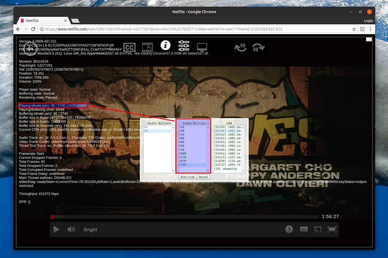 Netflix 1080p Chrome
