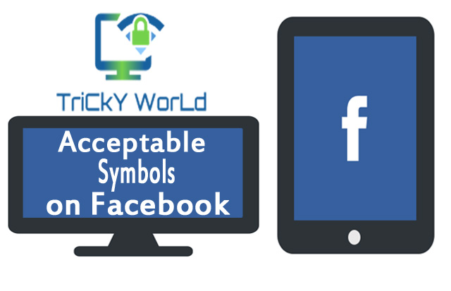 Acceptable Symbols For Facebook Tricky World