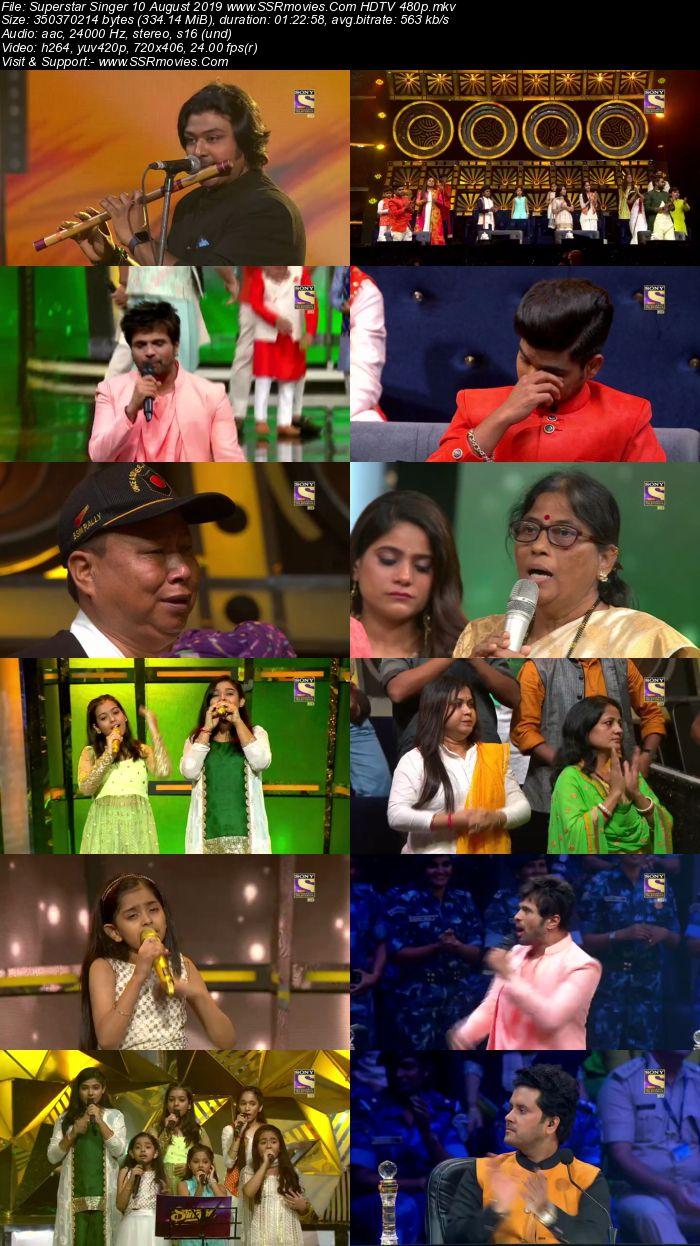 Superstar Singer 10 August 2019 HDTV 480p Full Show Download