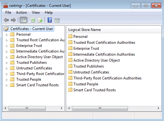 Encrypting File System Certificate Manager