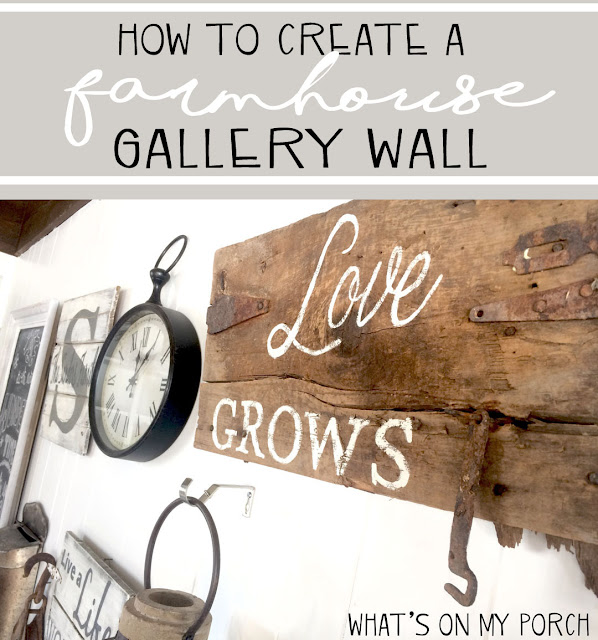 farmhouse gallery wall signs